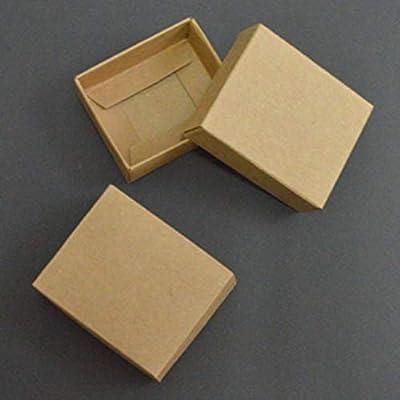 Caja de Regalo de cartón Grande, 10 Unidades, Caja de Regalo de cartón pequeña, Caja de Papel Kraft con Tapa, Cajas de Papel Blanco y Negro para Embalaje, Beige, 21X10X3cm: Amazon.es: Hogar