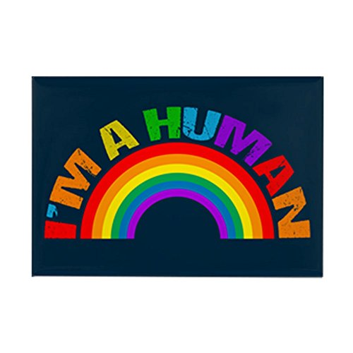 CafePress Human Rainbow Rectangle Magnet, 2