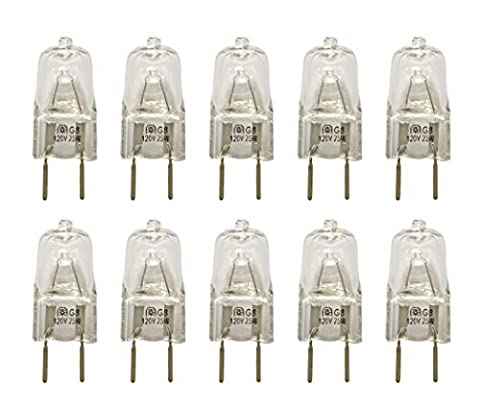 Vstar® G8 120V 25W Halogen Light Bulbs(10 Pcs) (25 Watt Type A Light Bulb)