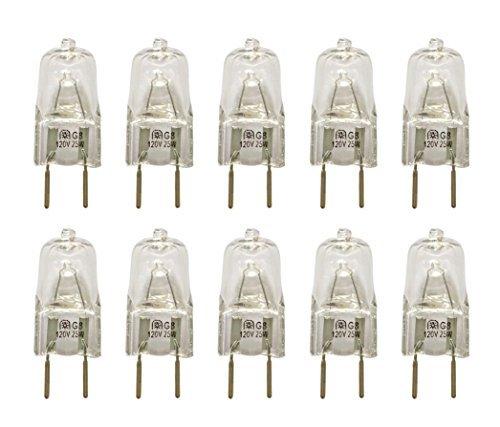 Vstar G8 120V 25W Halogen Light Bulbs,(Shorter <37mm),Dimmable,10 PCS