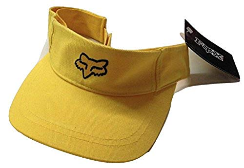 Fox Racing New School Fox Head Adjustable Visor Yellow/Black Cap Osfa (Fox Visor)