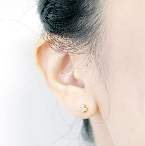 Dainty Medical Cross Gold Studs Earrings by Sassy Bee TM