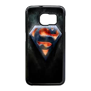 Superman Logo_003 Samsung Galaxy S6 Edge Cell Phone Case Black Protective Cover