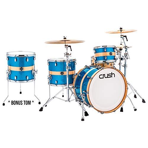 Rack Tom Birch Shell - Crush SBR326 Sublime Birch 3-Piece Drum Shell Pack (Blue Sparkle w/Natural Stri