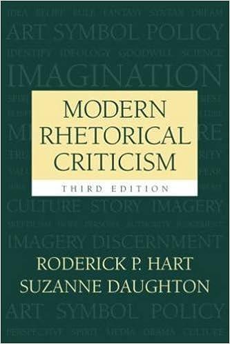 Book Modern Rhetorical Criticism by Hart, Roderick P, Daughton, Suzanne (2004)