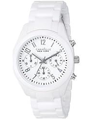 Caravelle New York by Bulova Womens 45L145 Analog Display Japanese Quartz White Watch
