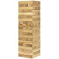 Pytho Jenga Giant | Big Size Natural Pine Wood Blocks for Real Jenga Lovers | 54 Plain Classic Blocks for Adults and Kids | Size: 46 X 15 X 15 cm | Stacks up to 4 Feet/ 122 cm | Weight 4.5 Kg