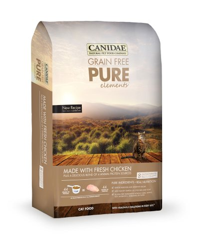 CANIDAE Grain Free PURE Elements Cat Dry Formula with Fresh Chicken, 4 lbs