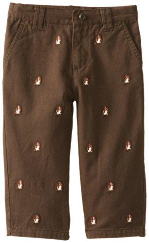 Kitestrings Boy's Little Boys' Brushed Cotton Twill Flat Front Pant, Portobello, 6