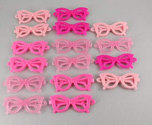 Cats Eye Sunglasses Barrette Pack 16 Cat Eyes Sunglasses Barrettes Pink Fuchsia Colored Hair Clips For Women Girls
