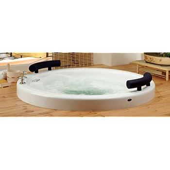 Neptune osaka round extra deep japanese soaker bath tub 51 for Extra deep soaking tub