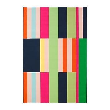 Teppich ikea bunt  IKEA HAVNSÖ Kurzflor Teppich in bunt; (200x300cm): Amazon.de ...