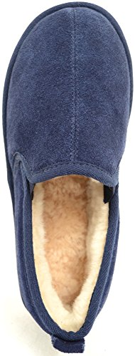Navy Sheepskin Sole Light Luxury Weight Flexible Mens with Slipper pwc8Ogw7q
