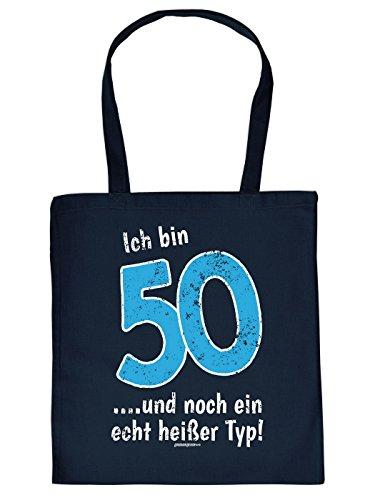 Coole Baumwolltasche zum 50. Geburtstag: 50 und noch ein heißer Typ! Super Geschenk Idee von Goodman Design