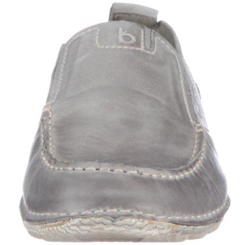 Bugatti Boma Nubuk D49625 - Mocasines de cuero nobuck para hombre Gris