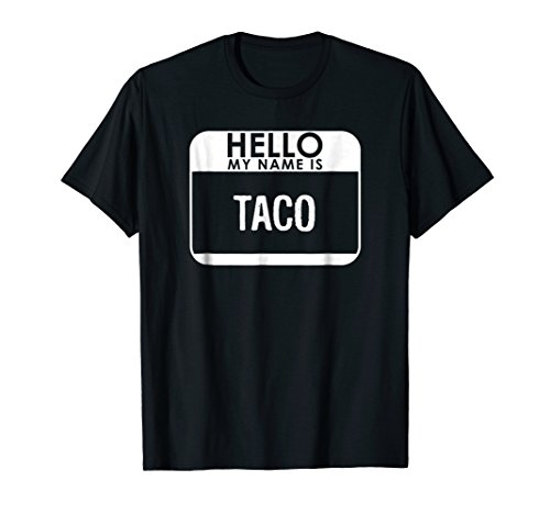Taco Costume T-Shirt Funny Easy Halloween Outfit (Halloween Themed Boy Names)
