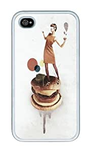 Iphone 4s Case,WENJORS Cool These Burgers Are Crazy Collage Soft Case Protective Shell Cell Phone Cover For Iphone 4s - TPU White