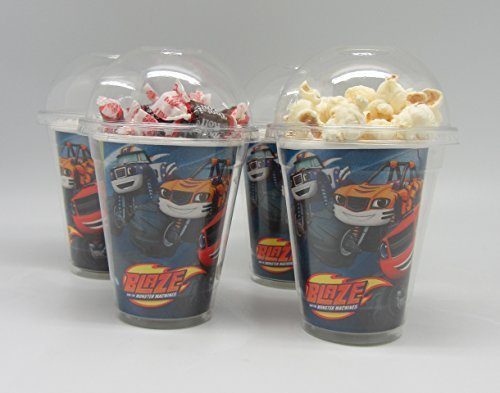 Set of 8 - Blaze and the Monster Machine Party Cups, Popcorn Cups, Goody Bags, Favor Boxes by Neon