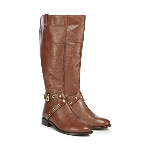 Debenhams Faith Womens Brown Leather 'Mildred' Calf Boots T7onRWZuk