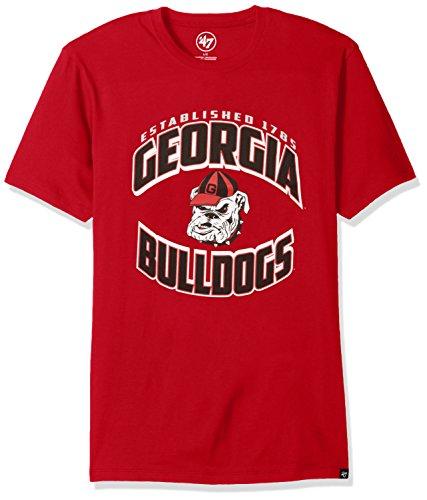 ('47 NCAA Georgia Bulldogs Men's Diamond King Splitter Tee, Medium, Red)