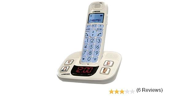Logicom GT 350 - Teléfono inalámbrico DECT (teclas grandes) (importado): Amazon.es: Electrónica