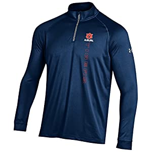 NCAA Auburn Tigers men's Tech Quarter Zip Tee, Navy, X-Large