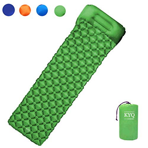 KYQ Ultralight Air Sleeping Pad – Inflatable Camping Mat,Ultra-Compact for Camping, Hiking, Backpacking and Traveling Comfortable Air Support Cells Design