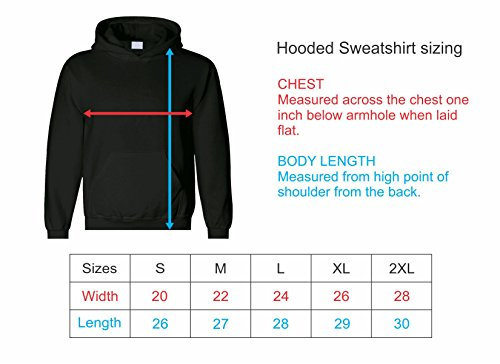 Men's Custom Personalized Hooded Sweatshirt, Front Arched text, Back Name & Number by The All Stop Shop (Image #3)