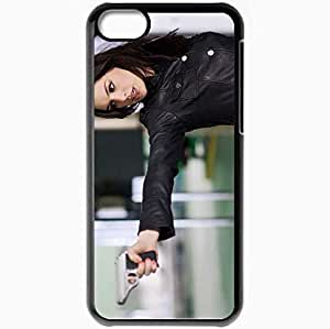 Personalized iPhone 5C Cell phone Case/Cover Skin Anne Hathaway Black