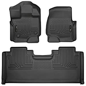 Husky Liners 94051 Combo Set Black Front and 2nd Seat Floor Liners Fits 2015-19 Ford F-150 SuperCab