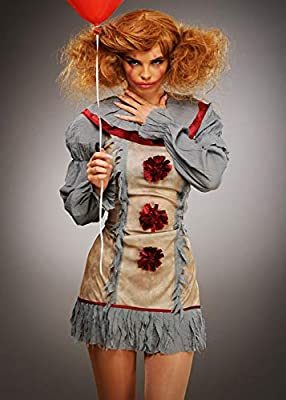 Ladies New Pennywise Gray It Disfraz de Payaso Medium (UK 12-14 ...