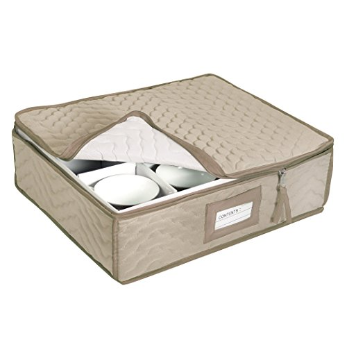 Richards Homewares Deluxe Mocha Fiber Cup Chest - Holds 12