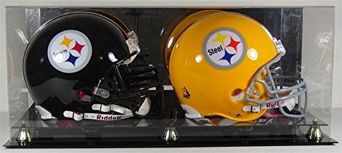 Deluxe Acrylic Double Full Size Football Helmets Display Case (Double Case Case Football)
