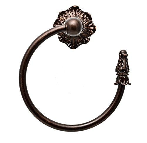 Carpe Diem Hardware 1646-22 Acanthus Towel Ring Right, Oil Rub Bronze