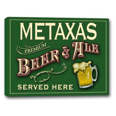 metaxas-beer-ale-stretched-canvas-sign-16-x-20