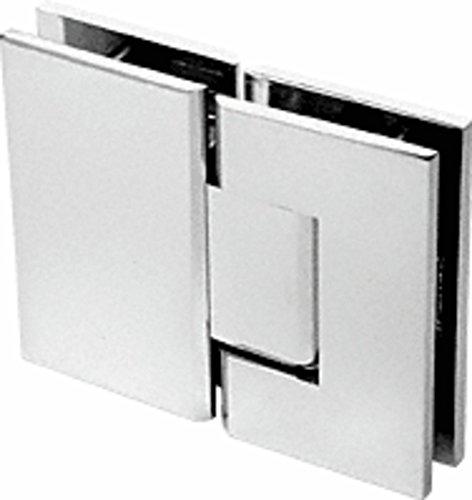 CRL Geneva 580 Series Polished Nickel 180º Glass-To-Glass Hinge with 5º ()