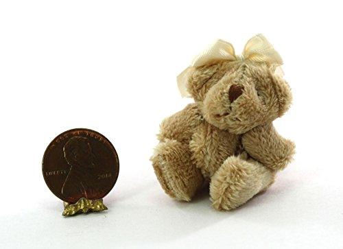 Dollhouse Miniature 1:12 Soft & Fuzzy Teddy Bear with Bow
