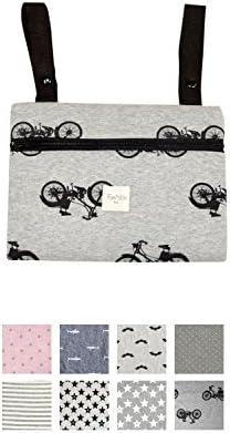 Fundas BCN ® - A22/93e99b - Bolso Organizador Universal para Carrito -Miniclutch - Estampado Black Bikes