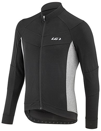 Jersey Money Pouch - Louis Garneau Men's Lemmon Long Sleeve, Lightweight, Full Zip Cycling Jersey, Black/Gray, Large