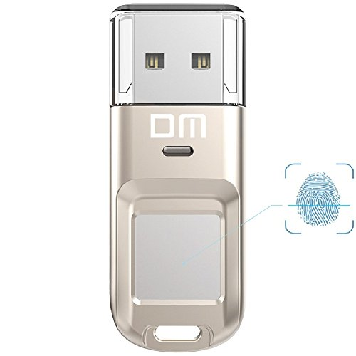 Farsler High-speed Double Sector 32GB 64GB 128GB Recognition Fingerprint Encrypted Pen Drive USB 2.0 Dual Storage Security Memory USB Stick(New 32G Silver) by Farsler