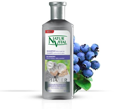Natur Vital Henna Shampoo for White and Gray Hair - CERTIFIED ORGANIC- 10.1 fl oz/300 ml