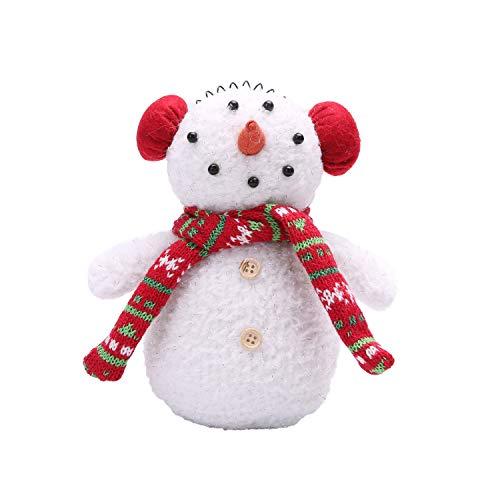 LARLIFE Handmade Christmas Snowman Gnome Decoration Santa Swedish Figurines (Small)