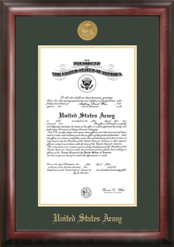 Army Commission Frame Gold Embossed by Patriot