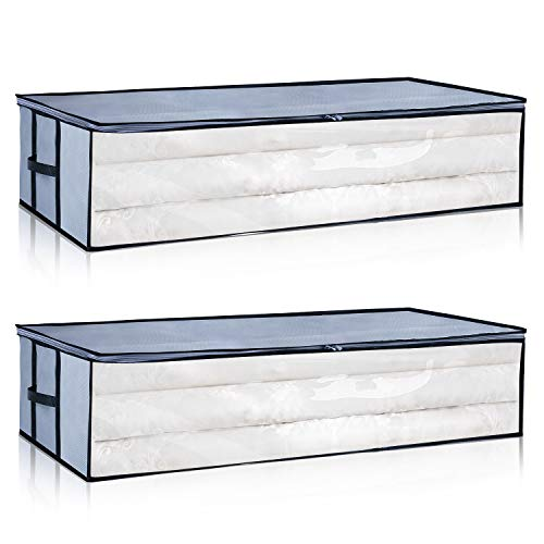 Under the Bed Storage Bags[2Pack] Reinforced Zi...