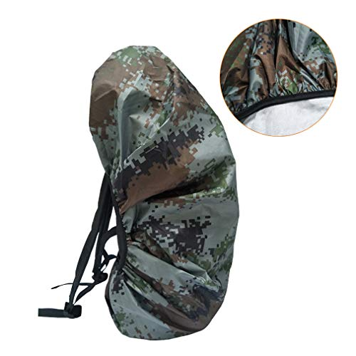 LY-Home Outdoor Waterproof Backpack Cover Digital Camouflage 40-55L Rainproof Ultralight Daypack Cover
