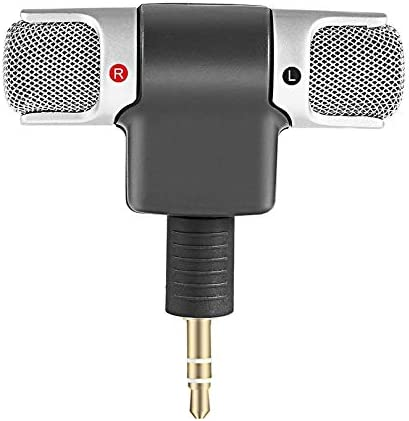 CamKpell Portable Size Digital Mini Stereo Microphone Mic 3.5mm Mini Jack For PC Laptop Notebook Left and Right Channel Stereo Recording