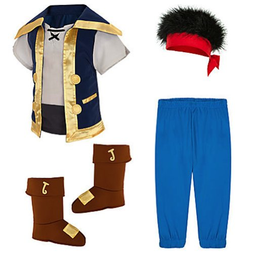 Disney Store Jake and the Neverland Pirates Costume 2t - 5t (3T 3 Toddler) (Jake And The Neverland Pirate Boots)