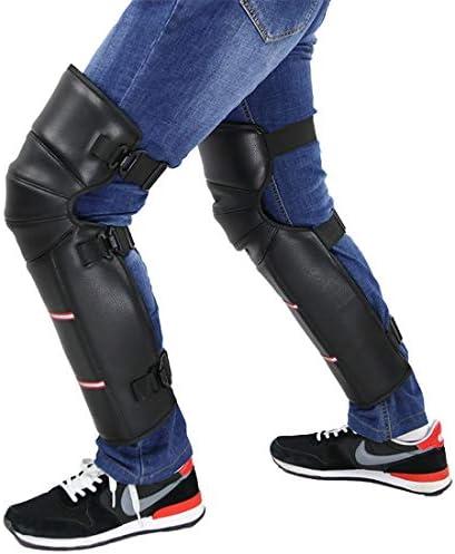 LilyAngel 長い膝パッドオートバイ乗って秋の秋の保護装置 (Color : ブラック)