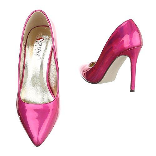 Ital-Design Plataforma Mujer, Color Rosa, Talla 38