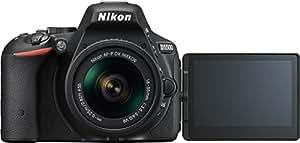 """Nikon D5500- Cámara réflex digital de 24.2 Mp (pantalla 3.2"""", estabilizador óptico, grabación de vídeo Full HD), color negro - kit con objetivo AF-P 18-55mm VR"""
